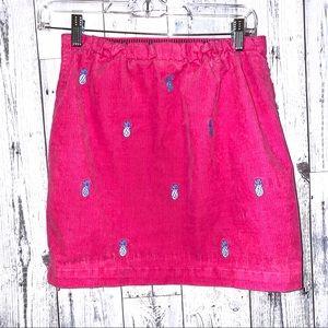 Girls Vineyard vines pink whale corduroy skirt 12